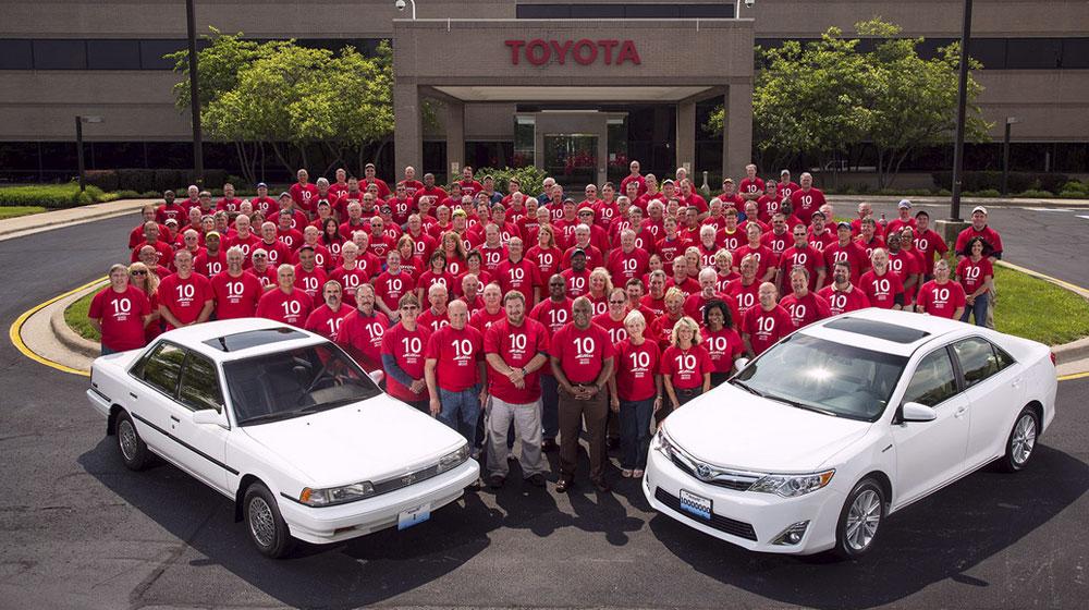 Toyota kỷ niệm chiếc xe thứ 10 triệu tại Kentucky