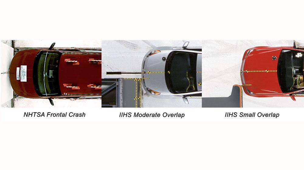 Crash Test Graphic Xếp hạng an toàn xe hơi tại Mỹ
