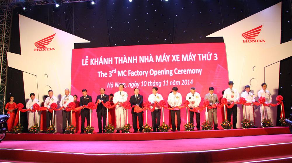 """Honda khánh thành nhà máy """"120 triệu đô"""" tại Việt Nam"""