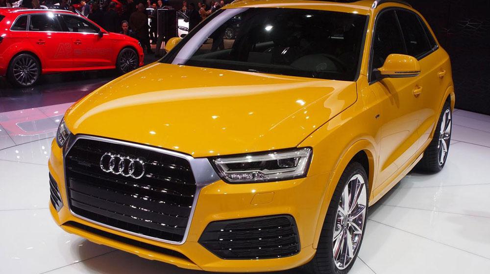 Audi Q3 2016 trên sân khấu triển lãm Detroit
