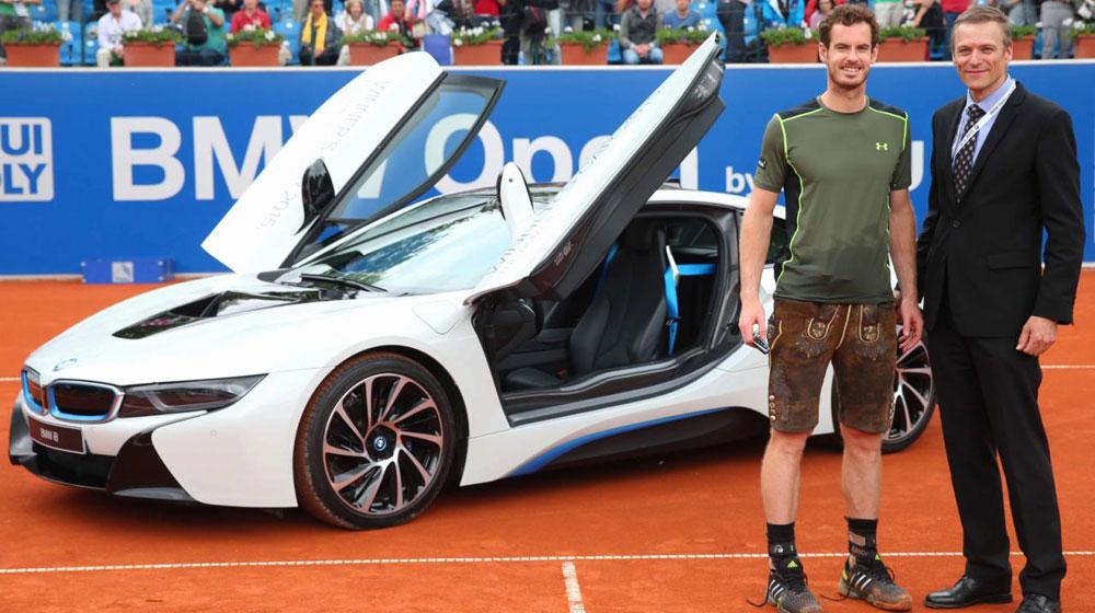 """Andy Murray """"ẵm"""" i8 sau khi đăng quang giải BMW Open 2015"""