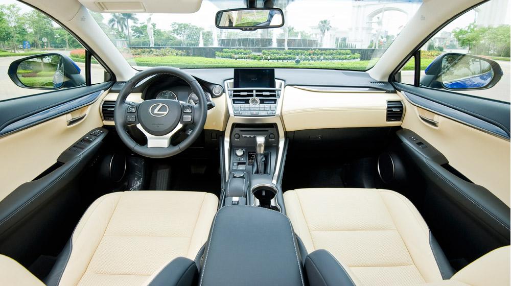 Lexus NX 200t noithat %286%29 Lexus NX200t chính thức ra mắt thị trường Việt, giá 2,4 tỷ đồng