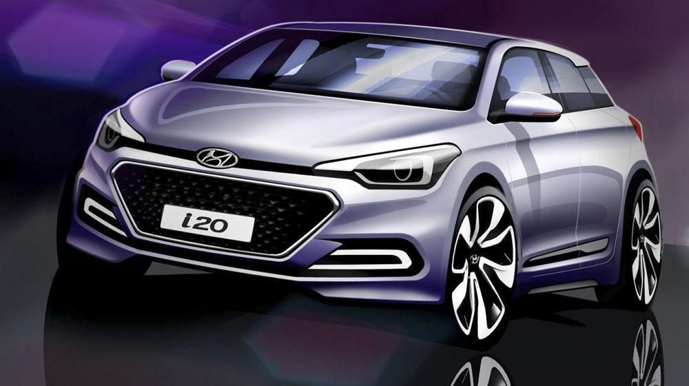 Lộ bản phác họa thiết kế chính thức của Hyundai i20 2015
