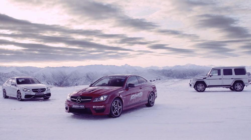 Hình ảnh tuyệt vời của Mercedes AMG trên tuyết