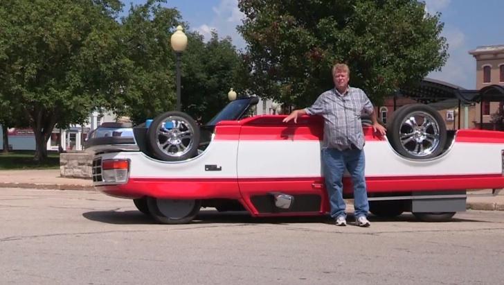 Xem chiếc xe lộn ngược đi kiểu gì?