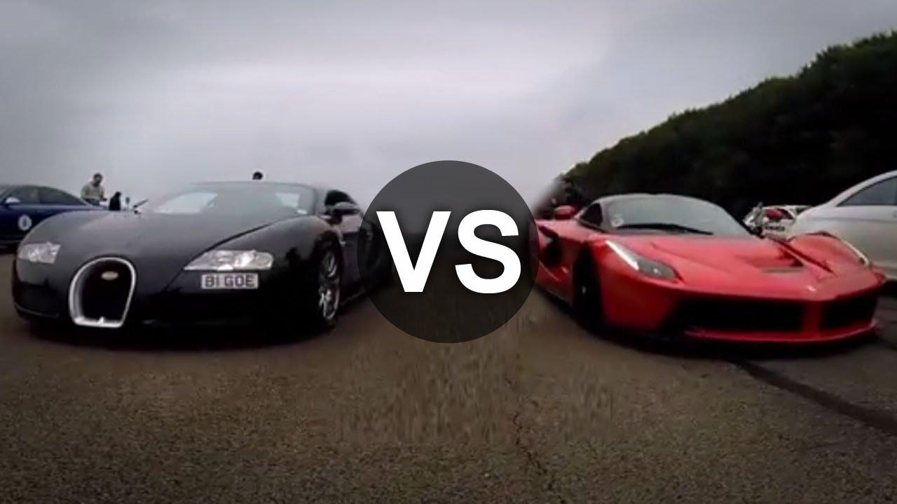 Ferrari LaFerrari đua Bugatti Veyron, ai thắng?
